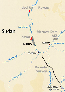 Map - Northern Dongola Reach
