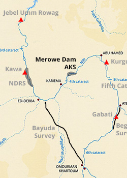Map - Amri to Kirbekan