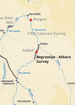 Map - Begrawiya to Atbara