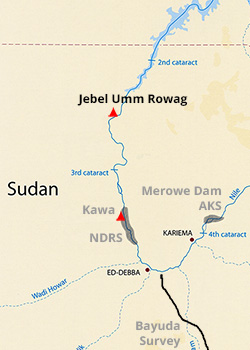 Map - Jebel Umm Rowag